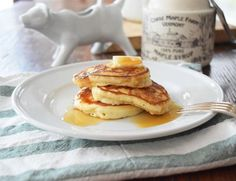 Yogurt pancakes are fluffy and pack in tons of fabulous flavor just waiting for some sweet toppings.