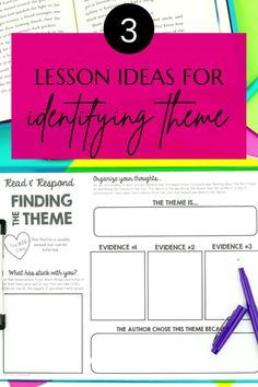Identifying theme can be tough for some students! To make your teaching life easier, I have 3 lesson ideas for you to help your students understand theme. These are great for introducing theme or reviewing throughout the year! Great to use as small group strategy lessons, whole group mini lessons, or guided partner activities. 7th Grade Ela, Teaching 5th Grade, 5th Grade Reading, Help Teaching, Teaching Reading, Guided Reading, Reading Strategies, Reading Comprehension, Reading Themes