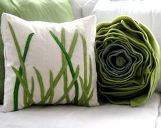 tall grass pillow square cover for 16x16 par pillowhappy sur Etsy
