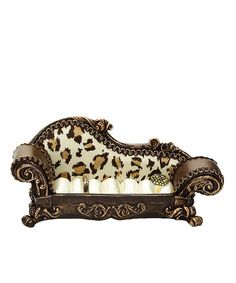 Treasured rings can spend the day lazing about on this va-va-voom chaise lounge. Cushioned inserts spread across the seat to hold precious gems and vintage jewels. Brown Leopard, Rings Cool, Vintage Rings, Jewelry Rings, Ring Holders, Ring Boxes, Gems, Bling, Cheetahs