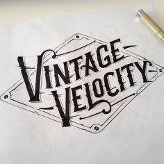 Vintage velocity logo #logo #logotype #handlettering #handdrawntypography #lettering #calligraphy #