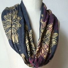 Dahlia Gold Scarf by RedBridge on Etsy Handprint and made in the USA