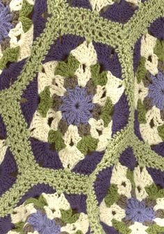 free Rockland Throw crochet pattern