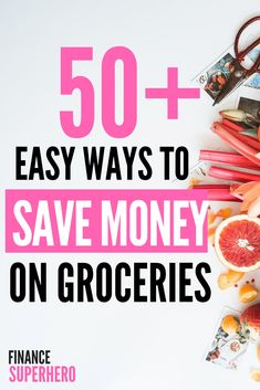 Grocery budget need help? We'll show you 50 ways to save money on groceries, get your spending under control, and still eat healthy food. Money Saving Meals, Save Money On Groceries, Ways To Save Money, Money Tips, How To Make Money, Money Savers, Groceries Budget, Living On A Budget, Frugal Living Tips