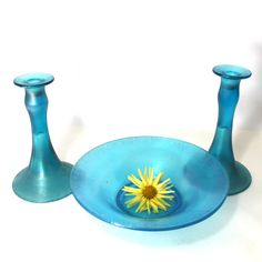 Vintage Mae West Candle holders and console bowl by by Hallingtons