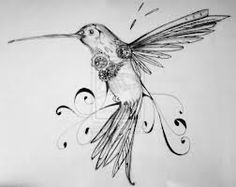 hummingbird tattoo black - Buscar con Google