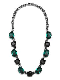 $66 Are we the only ones who think the dazzling gemstones here are absolutely delicious? They're delightfully oversized, expertly faceted and, with those slick chain links, make for a wonderful statement style.  This is part of the BaubleBar + Nina Garcia Bejeweled Collection