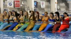 About 200 mermaids, mermen and merchildren attend NC Mermania at the Greensboro Aquatic Center in North Carolina.