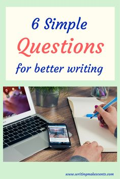 6 simple questions make writing those first few sentences so much easier. Business Writing Skills, Cool Writing, Sentences, Blogging, Entertaining, This Or That Questions, Gallery, Simple, Easy