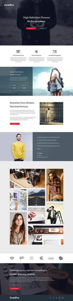 Free Camera Webpage Design PSD on Behance
