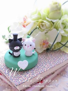 Wedding Cake Topper-love cat | by charles fukuyama