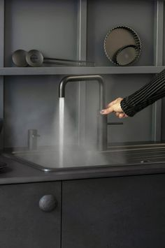 The world's first boiling water tap. Energy efficient, safe, space saving and versatile. Kitchen Taps, Kitchen Cupboards, Boiling Water Tap, Water Aesthetic, Light Ring, Childproofing, Mixer Taps, Save Water, Modern Kitchen Design