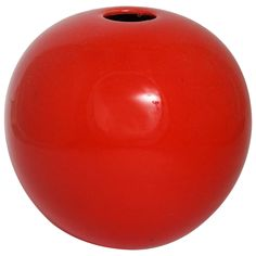 Red Orb Vase | From a unique collection of antique and modern vases at http://www.1stdibs.com/furniture/dining-entertaining/vases/