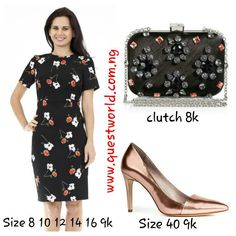 Bright and Beautiful! #dress #Clutch #shoes www.questworld.com.ng #pay on delivery (Lagos). Nationwide Delivery from 24hrs