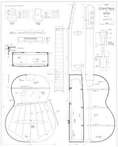 Jose Ramirez Classical Guitar Blueprint Plans