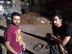 On the sets of 3AM the movie Rannvijay and — with Vishal Spasty and Rannvijay.