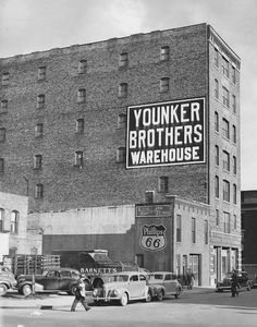 Younkers Department Store Warehouse, 800 block Mulberry, 1940's downtown Des Moines