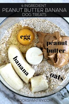 Homemade Peanut Butter Banana Dog Treats are super simple. Making homemade treats is easy, plus it is less expensive than store-bought. Puppy Treats, Diy Dog Treats, Healthy Dog Treats, Homeade Dog Treats, Frozen Dog Treats, Puppy Food, Pet Food, Dog Biscuit Recipes, Dog Food Recipes