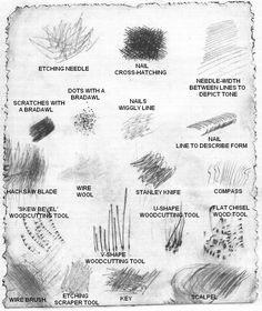 drypoint etching techniques - Google Search