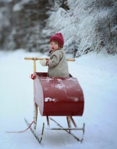 Sleigh ride in the snow.