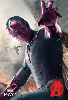 Vision gets his AVENGERS: AGE OF ULTRON character one-sheet! http://nerdyrottenscoundrel.com/marvel-reveals-the-vision-avengers-age-of-ultron-character-poster/
