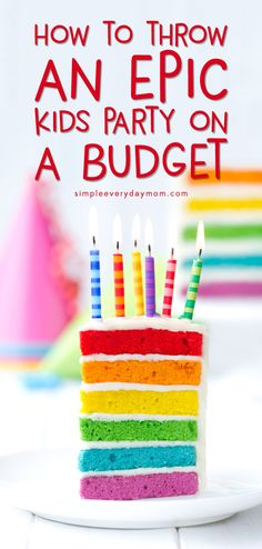 Budget Kids Party: Throwing a kids birthday party doesn't have to mean spending a fortune! Learn all the insider secrets of how to throw a cheap birthday party for kids that everyone, including your wallet, will love! Birthday Activities, Birthday Party Games, First Birthday Parties, 19th Birthday, Birthday Kids, Kid Parties, Birthday Crafts, Birthday Wishes, Party Food On A Budget