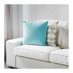 IKEA - SANELA, Cushion cover, Cotton velvet gives depth to the color and is soft to the touch.The zipper makes the cover easy to remove.