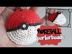3D Pokeball Perler Beads