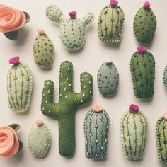 Diy cactus pillows. This would be a cute diy home decor project, or even a cute nursery theme!