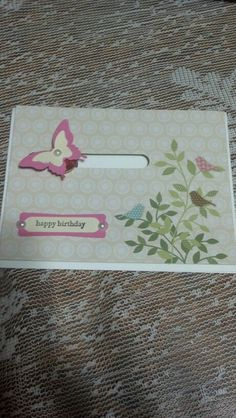 Butterfly penny spinner card