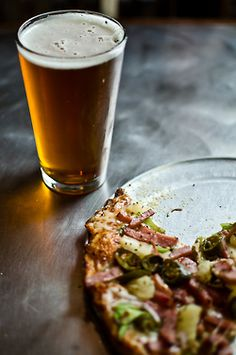 pizza and beer.