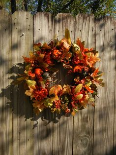 Fall Wreath  Wreath For The Door  Outdoor Wreath by forevermore1, $89.00