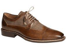 Mezlan Shoes Tan Plaid Spectator Lace Up Uffizi - click to enlarge
