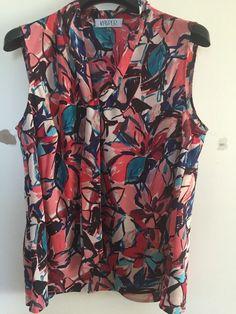 NWT FREESHIPPING Kasper Pink Floral Print Women's Size 2X Plus Blouse Top…