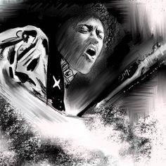 Jimi, china, acrylic color and 5b pencil. 2016 #jimi #hendrix #rock #music Acrylic Colors, Jimi Hendrix, Rock Music, Pencil, China, Illustration, Art, Art Background, Kunst