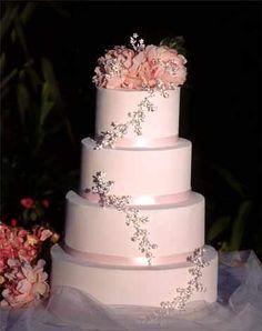 Meandering Vine Swarovski Crystal Wedding Cake Topper in Silver $179.95