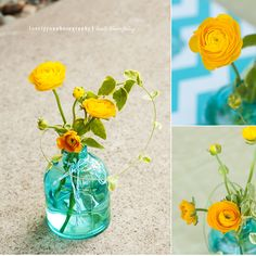 tiffany blue and yellow wedding - Google Search