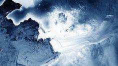 Vista aérea de uma geleira no oeste da Antártida - NASA
