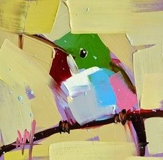 Angela Moulton - daily painting. http://angelamoulton.blogspot.com/2014/10/tody-bird-no-21-painting.html