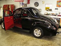 1940 Ford Coupe Custom Red Leather Interior