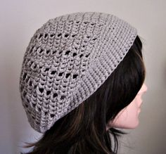 Slouchy Hat, Bit of A Slouch Hippie Beanie, Lightweight Pearl Gray Cotton Blend, Year Round, Hippie Tam Beret Ladies Slouch Hat by pinoakstudiotoo on Etsy Slouchy Beanie Hats, Beret, Hand Crochet, Crochet Hats, Pearl Grey, Cotton Lights, Ear Warmers, Headbands, Gray