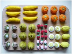 Felt vegetables and fruits (feutrines)