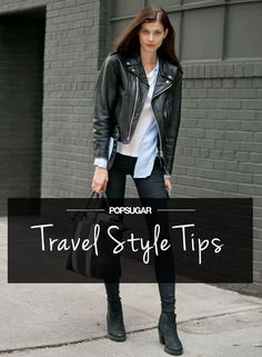 How to wear a white shirt with leather jacket