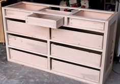 How to build dresser drawers