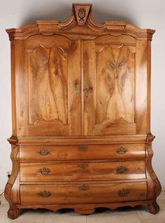 xviii jahrhundert niederlandischen obstholz barock louis quinze schrank um 1780 bronzebeschlagen mobel lampen spiegel einrichtung bauernschrank