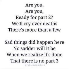 Nooooooooooo the crying is going to start soon. I know it.