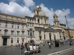Palazzo Pamphili y Sant'Agnese in Agone en Piazza Navona