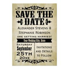 Vintage Country Save the Date Cards