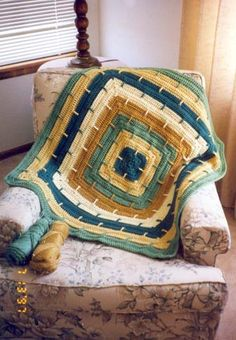 I bought this pattern several years ago and love this pattern. Made a couple of afghans with it and vary easy to work and nice pattern