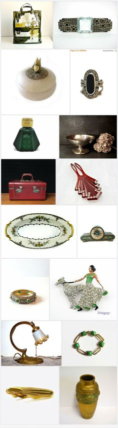 Art Deco at Vogue       #vogueteam #voguet SOTD  by Pat on Etsy